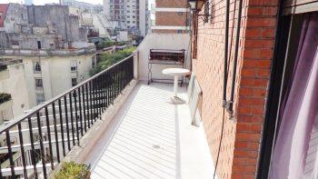 1 Ambiente Muy Luminoso Con Balcón Terraza En Barrio Norte